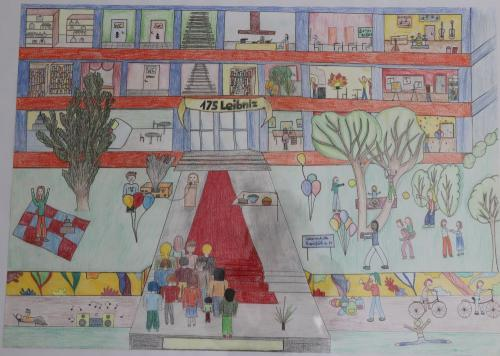 2020 Tdot Leibnizschule Kunst Wimmelbild Jubiläum