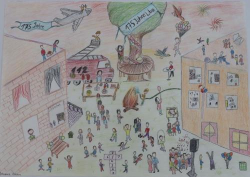 2020 Tdot Leibnizschule Kunst Wimmelbild Jubiläum2