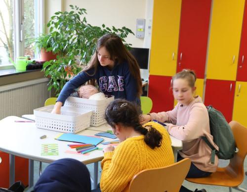 2020 Tdot Leibnizschule Wohnzimmer Basteltisch